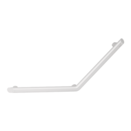 511982W-Be-line® matte white angled grab bar 135°, 400 x 400mm