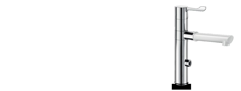 Сенсорный смеситель со съемным изливом