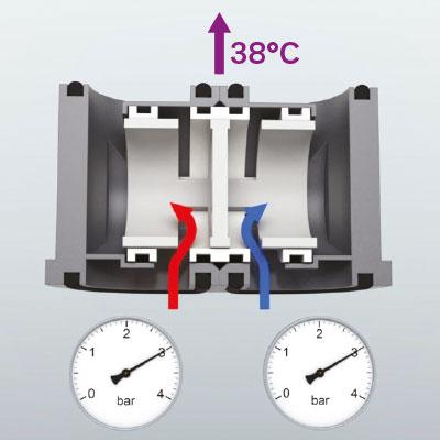 Механический смеситель с балансировкой давления