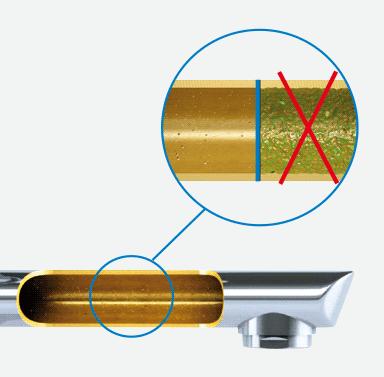 Сантехническая арматура с гладкой внутренней поверхностью, без шероховатостей