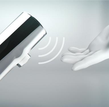 Сенсорная арматура с автоматическим ополаскиванием